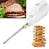 Cocina Cuchillos Kebab Slicer Cortador de Carne EléCtrico Machine Doble Hoja de Acero Inoxidable Filo Ondulado para Carne y...