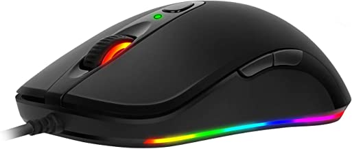 ABKONCORE - A530 PWM 3325 RGB Gaming Mouse - 4,000 DPI MAX - 100 IPS - 20G Acceleration - Customized 16.8M ARGB Light - Perfect Grip for PC Games - MOFA & FPS