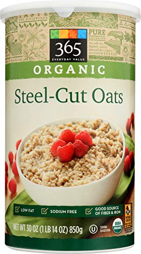 365 Everyday Value, Organic Steel Cut Oats, 30 oz
