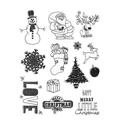 DECORA Clear Rubber Stamp for Christmas Themed DIY Decoration and Other Scrapbooking Designs.