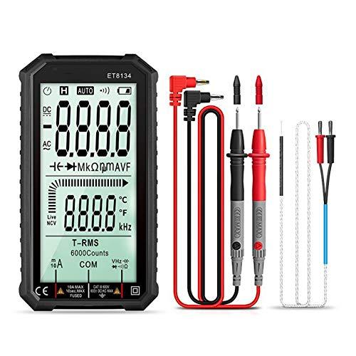 Medidor universal digital 4.7 pulgadas LCD Multímetro de corriente de corriente de corriente de corriente de corriente CA Voltaje de corriente Medición de la corriente de la resistencia a la resistenc