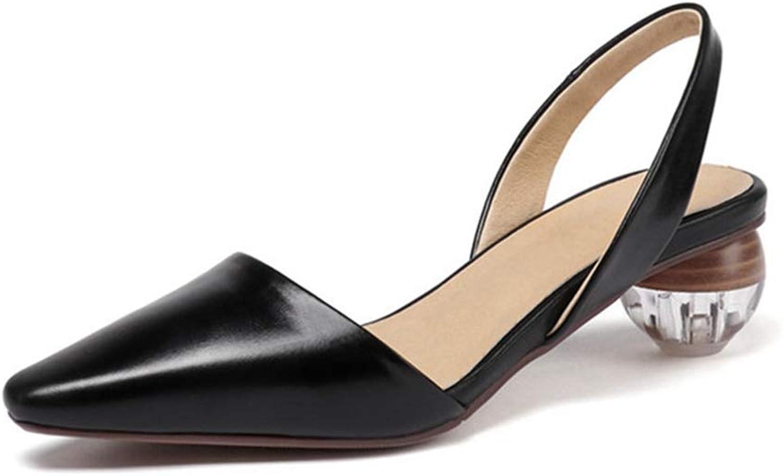 Mina damer Sandaler Medium Crystal Heel Heel Heel Party Casual Wild kvinna Slip Sandal sommar Single skor  100% passform garanti
