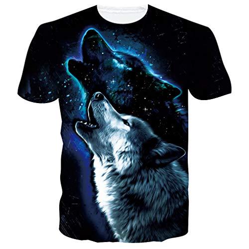 Raisevern Unisex-T-Shirt mit 3D-Druck, leger, kurzärmelig, für Männer und Frauen, Größe S – XXL Gr. M, Ananas mit Brille
