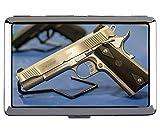 Estuche de Almacenamiento Creativo, protección de Arma de Pistola Pistola Metal Titular de la Tarjeta de identificación de crédito empresarial