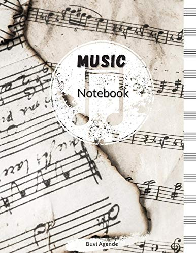Music Notebook: Blank Sheet Music Notebook, Song Writing Journal, 8,5x11 Inches