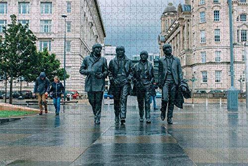 Waniyin Puzzle de 1000 Piezas Adultos Rompecabezas El Memorial de los Beatles Liverpool Juegos Infantiles Juguetes Bricolaje Brain Challenge