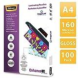 Fellowes 5306114 Pochettes de plastification 80 microns - Format A4 - Pack de 100 pochettes -...