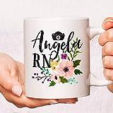 N\A Taza de café Personalizada Enfermera registrada Taza de té Blanca de cerámica para Hombres y Mujeres