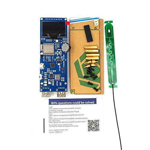 ILS - WiFi Deauther Mon Ster V4 Esp8266 Development Board omgekeerde bescherming met antenne en Case 18650 powerbank 5V 2A