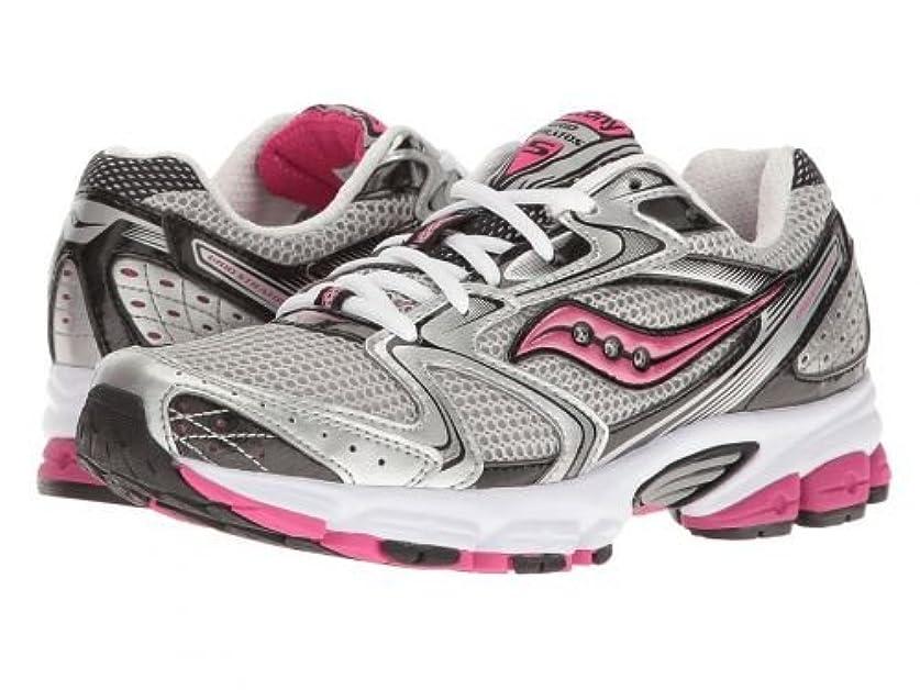 暴徒タンザニアワーカーSaucony(サッカニー) レディース 女性用 シューズ 靴 スニーカー 運動靴 Grid Stratos 5 - Silver/Black/Pink [並行輸入品]