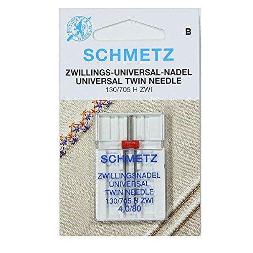 Schmetz Naalden voor naaimachine - Twin (Choice van 10 maten) GRATIS Naalddraadlezer