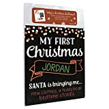 'My First Christmas' Photo Sharing Chalkboard - Perfect Holiday Keepsake
