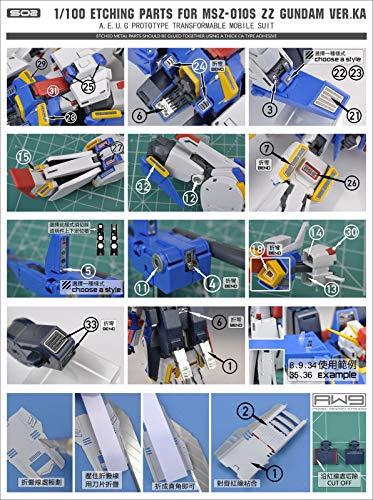 Madworks S02 Detail Up Metal Parts Photo-Etch PE Upgrade for ZZ Gundam Ver. Ka MG 1/100