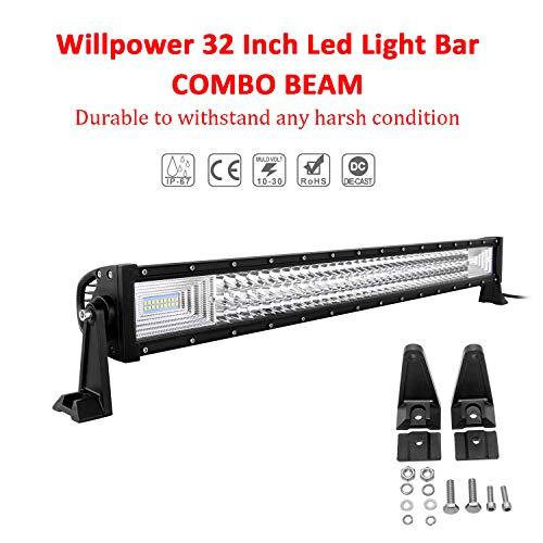 Willpower Barra LED 405W 81cm Barras de Luz de Trabajo 7D Tri-fila Combinación...
