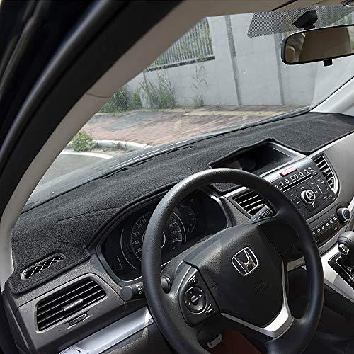 Dash Cover for Honda CRV 2012-2016 Original Car Custom Dashboard Mat Anti-Glare Dash Carpet Polyester Black and Red