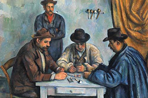 Paul Cézanne – The Card Players (1892) – Reproducción de una pintura – Foto de regalo – Cezanne Poker Games Hold Em – Tamaño: 53,3 x 35,5 cm