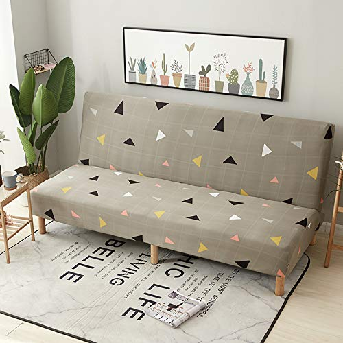 RKZM Vier seizoenen universele uitklapbare slaapbank zonder armleuning elastische bank set all-inclusive bank kussen sofa cover sofa handdoek 160-190cm Driehoek