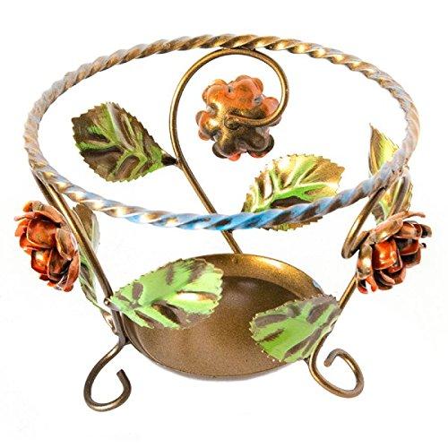 Pot portapiante en fer forgé décoré à la main 20 cm fabriqué en Italie