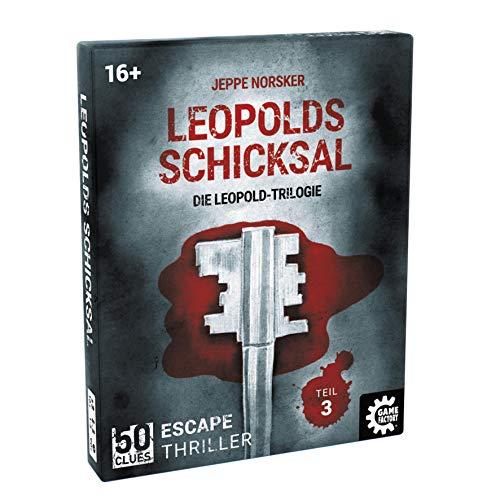 Game Factory 646258 50 Clues-Leopolds Schicksal, Escape-Thriller zum Mitspielen und Rätseln, Exitgame, Rätselspiel, Krimispiel Trilogie, Teil 3