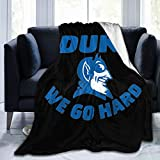 Duke Blue Devils Fleece Blanket Plush Bed Throw for Couch Or Bed Warm Throw Blanket All Season Sofa Blankets 50'X40'