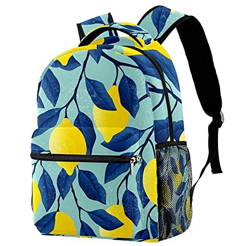 delayer Mochila de viaje unisex limón amarillo Mochila para portátil al aire libre de moda mochilas para niños y niñas