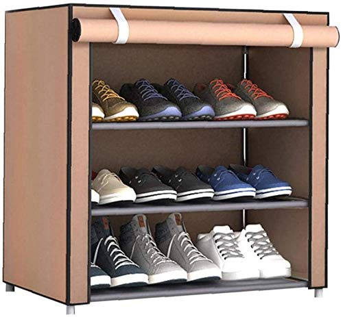 SHBV Gabinete de Almacenamiento de Zapatos Simple DIY Zapatero Dormitorio Hall de Entrada Armario Plegable Modular portátil a Prueba de Polvo
