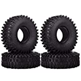 INJORA 4 Stücke 1,9 RC Crawler Reifen, Reifen Set für Axial SCX10 90047 SCX10 III AXI03007 D90 D110 TF2 Tamiya CC01 Traxxas TRX-4 -