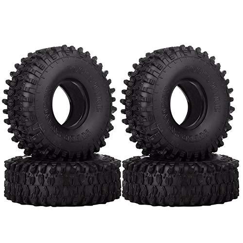 INJORA 4 Stücke 1,9 RC Crawler Reifen, Reifen Set für Axial SCX10 90047 SCX10 III AXI03007 D90 D110 TF2 Tamiya CC01 Traxxas TRX-4
