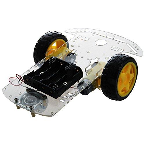 Gfhrisyty Nuevo 2WD Motor Robot Car Chasis Caja Batería Kit Velocidad Encoder para