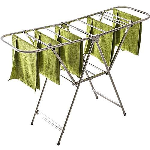 H.ZHOU-Wäscheständer Schmetterlings-Form-Edelstahl-Fußboden-stehende Falten Innen-und Außen Balkon Adjustable Handtuch Wschetrockner Trockenständer