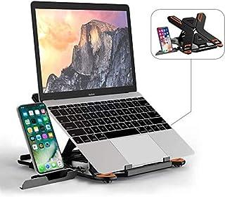 Laptop Stand JOYSEUS Portable Laptop Riser, 360°Swivel Base Adjustable Eye-Level Ergonomic Design, Foldable Desktop Notebo...