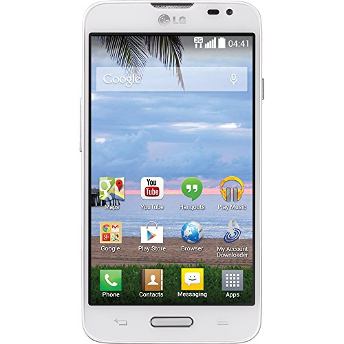 LG Ultimate 2 L41C White Android Prepaid Phone with Triple Minutes (Tracfone)