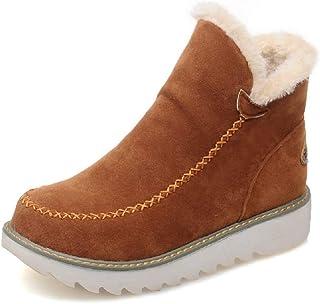 Botas Mujer Invierno Nieve Cuña Botines Fur Plataforma Calientes Cortas Casa Planas Alpargatas Tobillo Ante 3cm Zapatos Be...