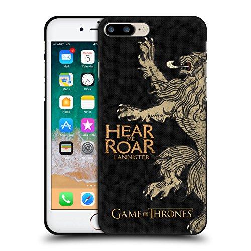 Head Case Designs Oficial HBO Game of Thrones Lannister Lemas de La Casa Funda de Gel Negro Compatible con Apple iPhone 7 Plus/iPhone 8 Plus