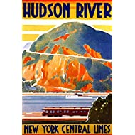 New York Hudson River Central Lines Train Railroad Valley River Vintage Illustration Travel Cool Wall Decor Art Print Poster 12x18