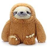 COICCEZA Sloth Stuffed Animal Cute Soft Giant Stuffed Animals Sloth Plush Toys Gift for Kids Girlfriend ,27.5 inchs