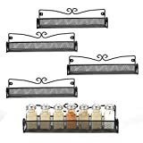 5 Pack Wall Mount Spice Rack Organizer for Cabinet Door Pantry Hanging Spice Shelf Storage,Black