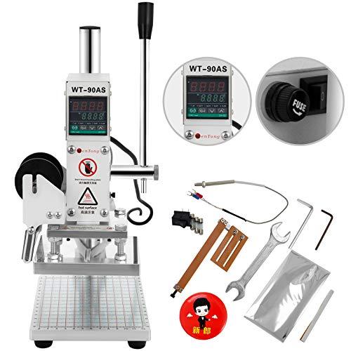 Techlifer 10X13CM Hot Foil Stamping Machine 300W Pressa di Calore Stampa Bronzante in Pelle per Stampa a Caldo con Cursore di...