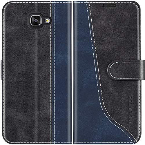 Mulbess Custodia per Samsung A5 2016, Cover Samsung A5 2016 Libro, Custodia Samsung Galaxy A5 2016 Pelle, Flip Cover per Samsung Galaxy A5 2016 Portafoglio, Nero