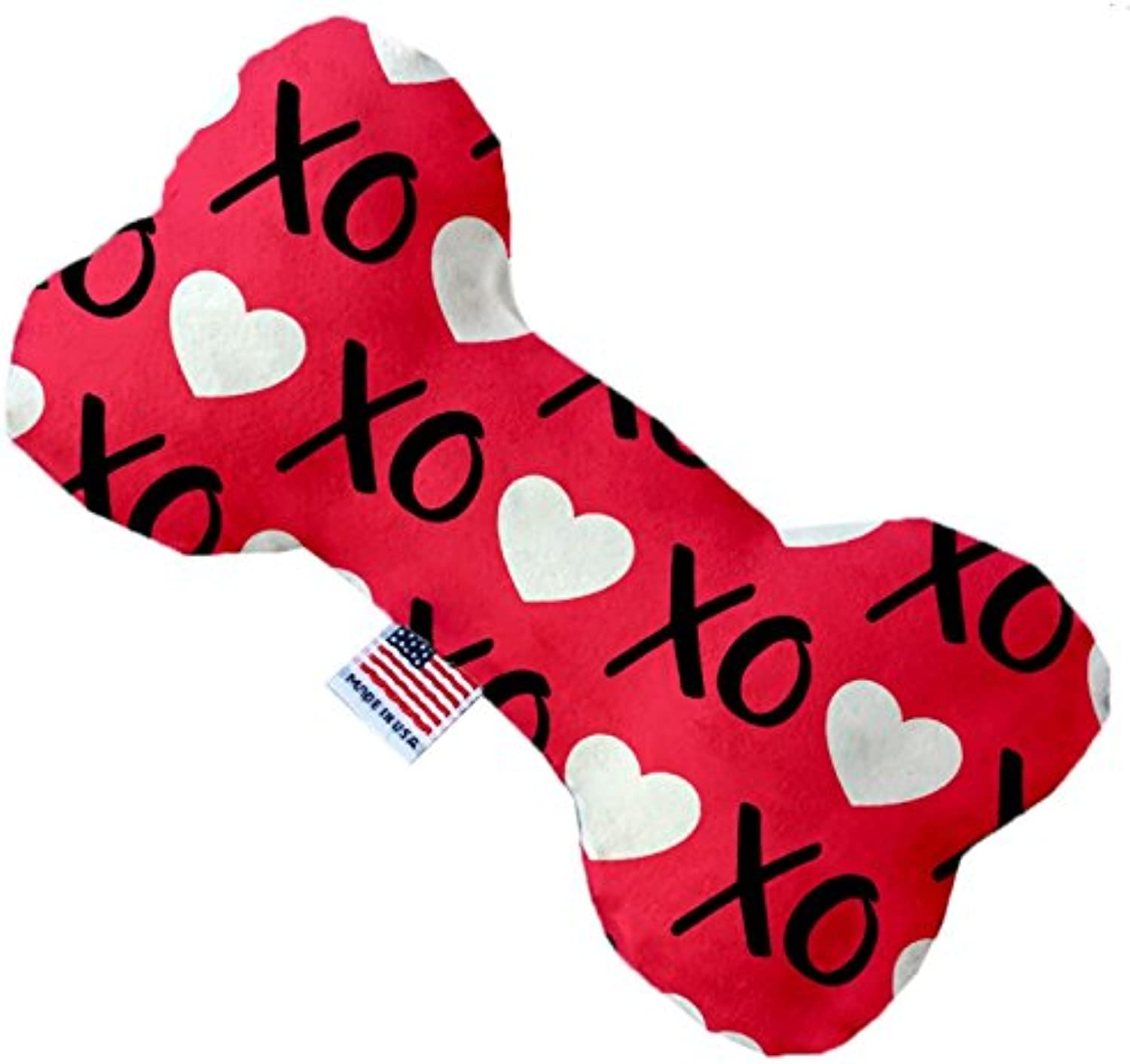 Red XOXO Valentine 6 inch Bone Dog Toy
