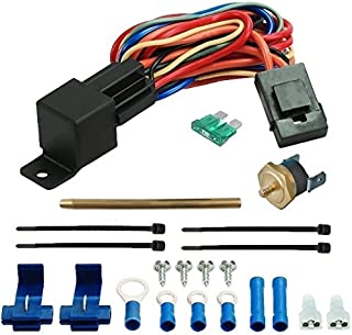American Volt Electric Fan Radiator Fin Push-in Probe Thermostat Wiring Relay Switch Temp Sensor Kit (2
