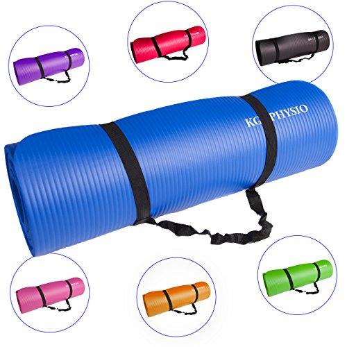 Esterilla Yoga KG | PHYSIO (1cm), Calidad Premium Colchoneta de Fitness para Gimnasio, Pilates o en Casa con Tirante (dentro de la colchoneta) 183cm x 61cm x 1cm (grueso)