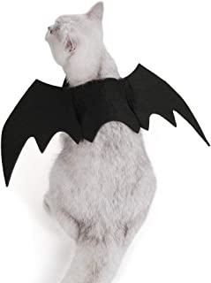 Eternity Times Cat Halloween Costume Pet Bat Costume Cat Bat Wings Small Dogs and Cats Theme Costume for Halloween Party Cosplay Decoration Cute Puppy Cat Dress Up Accessories