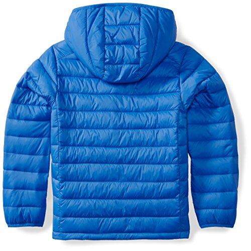 Amazon Essentials Boys' Lightweight Water-Resistant Packable Hooded Puffer Jacket Royal Blue, Medium