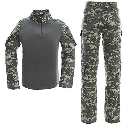 Juego de camiseta y pantalones tácticos de combate para hombre,...