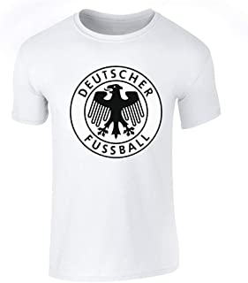 Germany Soccer Retro National Team Crest Costume Graphic Tee T-Shirt for Men