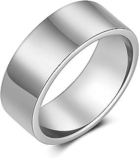 Scddboy 8MM الفولاذ المقاوم للصدأ ماتي مصقول خواتم للرجال خاتم الزفاف الكلاسيكية بسيط الدائري