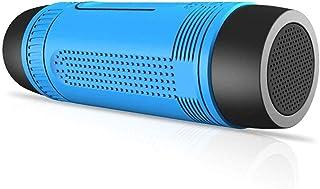 KJRJLY Bluetooth Speaker, Mini Flashlight Portable Speaker, 10 Hours Playback Time 10 Meters Bluetooth Range, Enhanced Bass, Call Radio Charging Function Cyclin