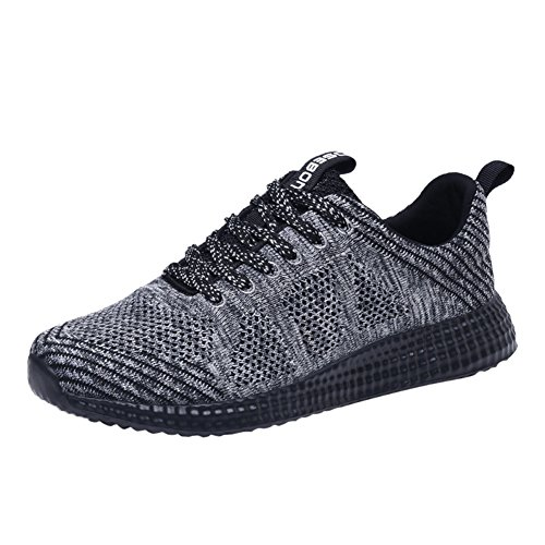 TIOSEBON Mens Lightweight Athletic Walking Casual Sneakers Lace-Up Running Sports Shoes