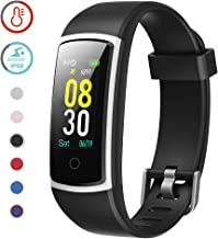 YAMAY Fitness Tracker with Blood Pressure Monitor Heart Rate Monitor,IP68 Waterproof..